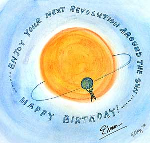Visual Insight Guru Eileen Clegg Sent Me This Lovely Card At Left Along With A Sweet Sentiment About Trips Around The Sun Prompting A Reof A