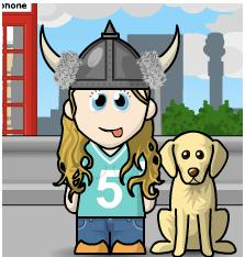 izzy viking dog