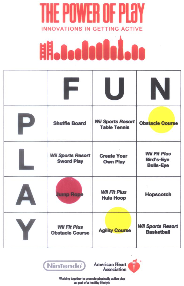 power of play bingo