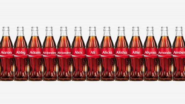 coke names bottle USA