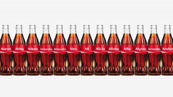 coke names bottle USA
