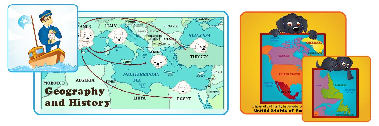 dog bk map