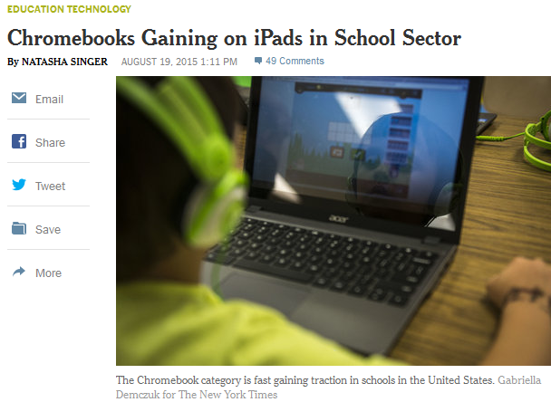 nytimes chromebook ipad media ed tech