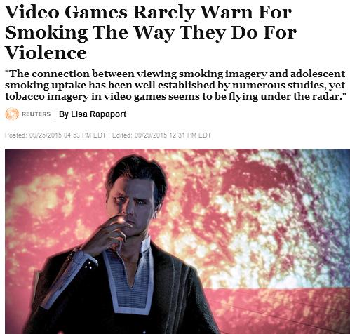 videogames smoking